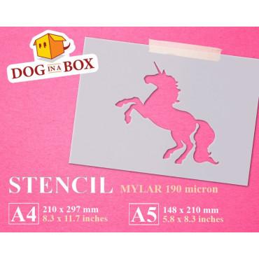 Unicorn stencil n.6 - Cute...