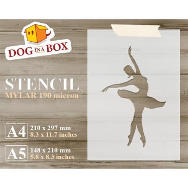 Ballerina stencil n.1 -...