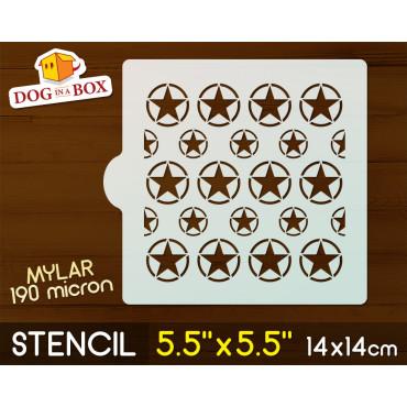 """Army stencil - 5.5"""" x 5.5""""..."""