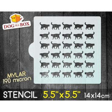 """Cats stencil n.1 - 5.5"""" x..."""