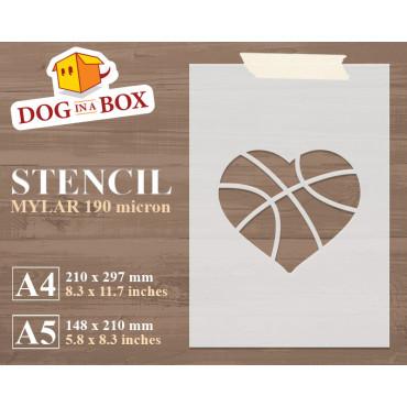 Basketball stencil -...