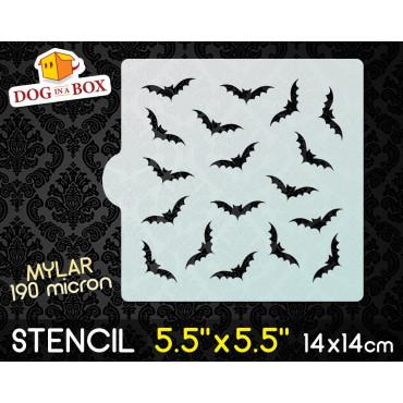 """Bats stencil - 5.5"""" x 5.5""""..."""