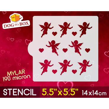 """Angels stencil - 5.5"""" x..."""