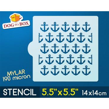 """Anchors stencil - 5.5"""" x..."""