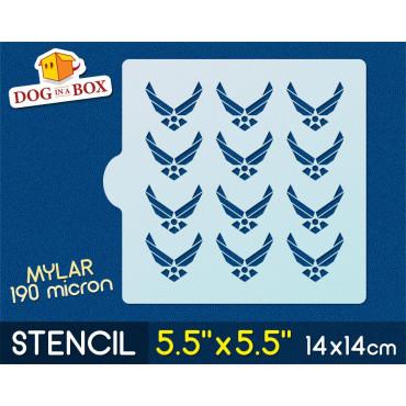 """Airforce stencil - 5.5"""" x..."""