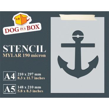 Anchor stencil n.1 - Marine...