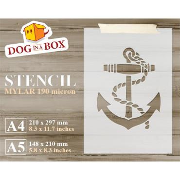 Anchor stencil n.2 - Marine...