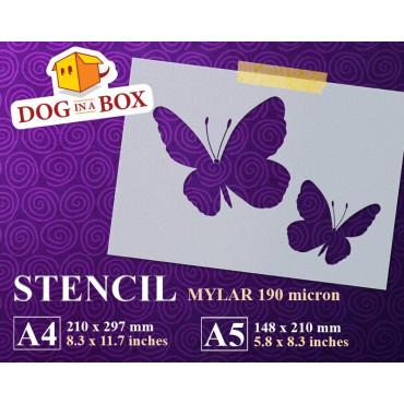 Butterflies stencil n.3 -...