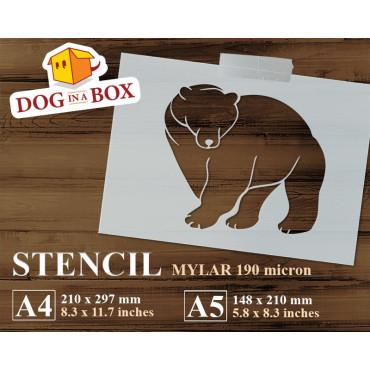 Bear stencil n.6 - Reusable...