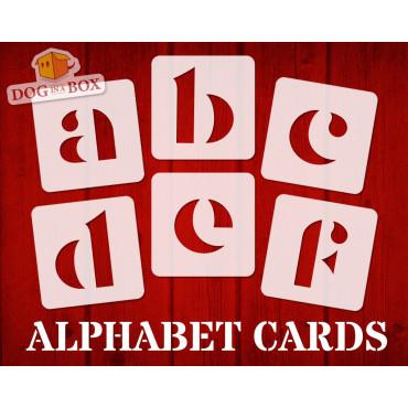 Alphabet stencils font n.9...