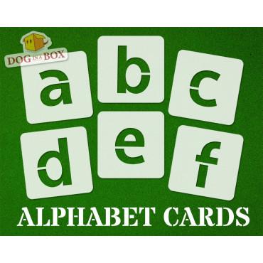 Alphabet stencils font n.8...
