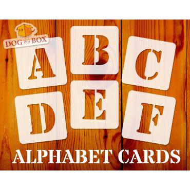 Alphabet stencils font n.5...