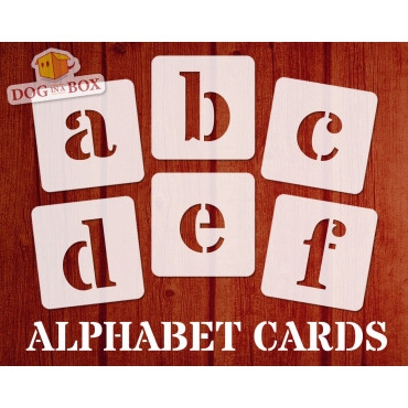 Alphabet stencils font n.4...