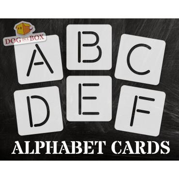 Alphabet stencils font n.1...