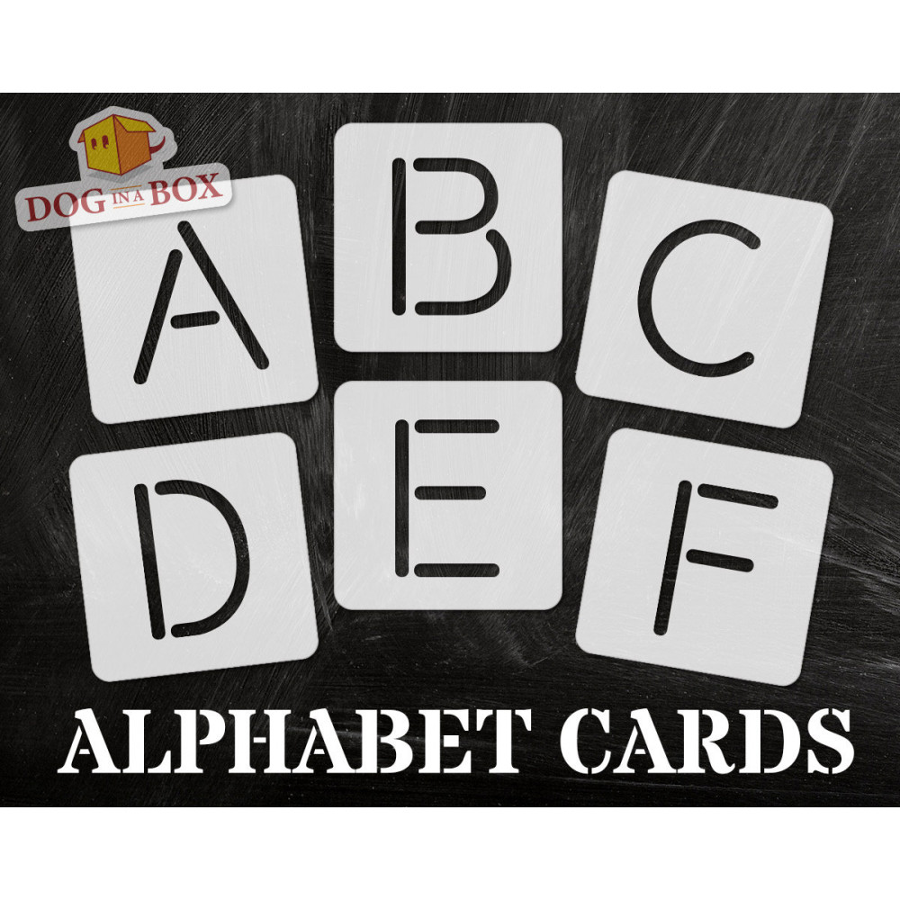 Alphabet stencils font n 1 - uppercase, individual letters A to Z, single  letter stencils, stencils for painting, stencils