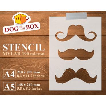 Mustaches stencil n.2 -...