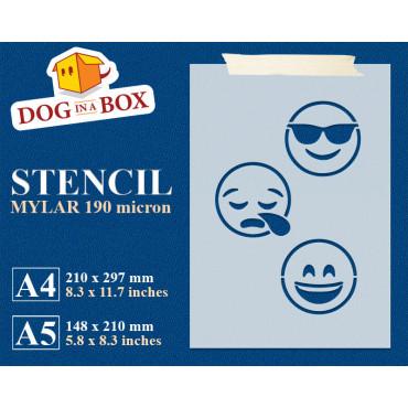 Emoticons stencil set n.5 -...
