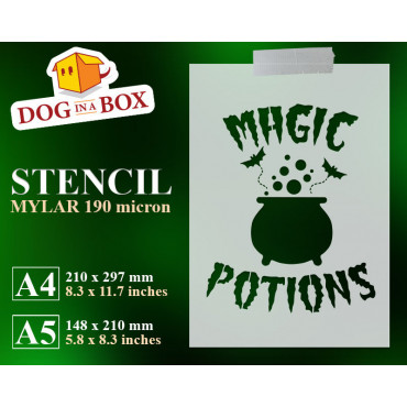 Magic Potions stencil -...