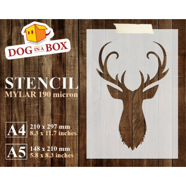 Deer stencil n.3 - Reusable...
