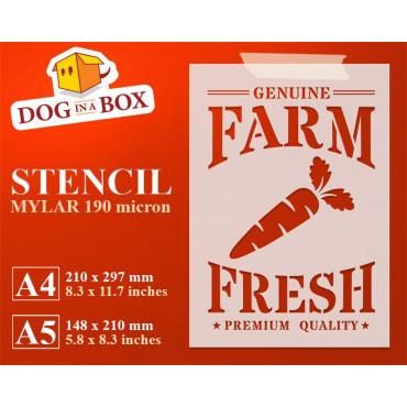 Farm Fresh Carrots stencil...