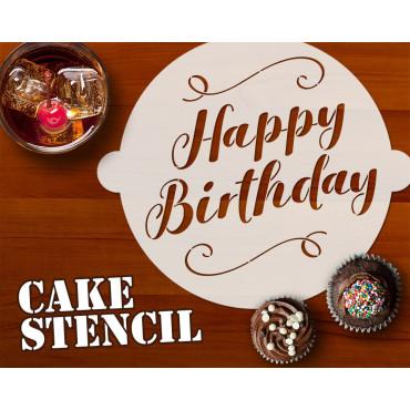 Happy Birthday cake stencil...