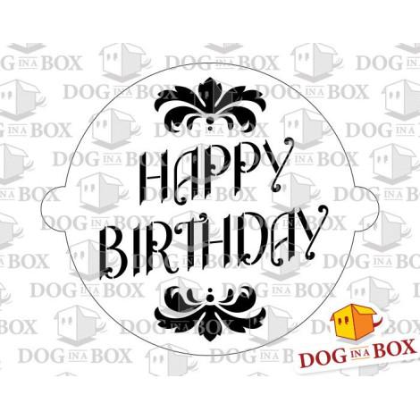 Fabulous Happy Birthday Cake Stencil Elegant Happy Birthday Stencil Personalised Birthday Cards Vishlily Jamesorg