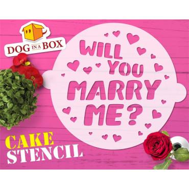 Marry me cake stencil -...
