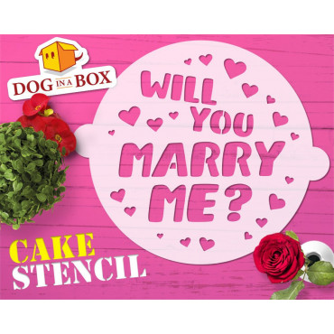 Marry me cake stencil -...