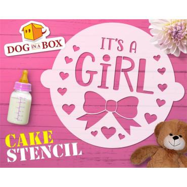 It's a girl cake stencil -...