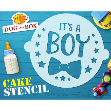 It's a boy cake stencil -...