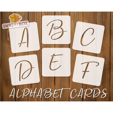 Alphabet stencils font n.10...