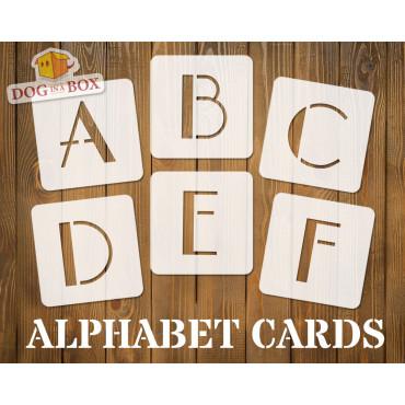 Alphabet stencils font n.6...