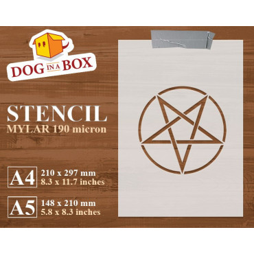Pentacle stencil - Wiccan...
