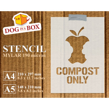 Compost Only stencil -...