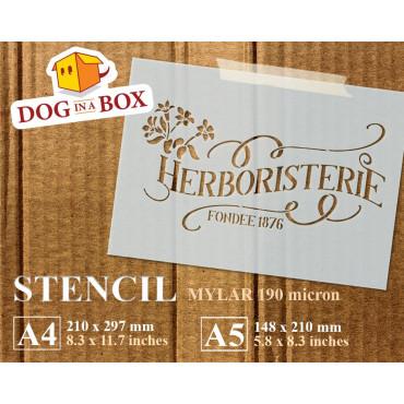 Herboristerie stencil -...