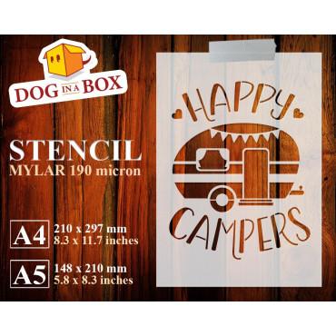Happy Campers stencil n.3 -...