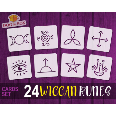 Wiccan Runes stencil cards...