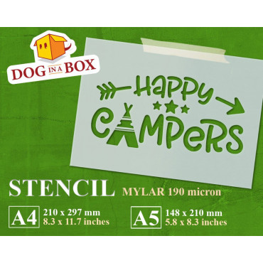 Happy Campers stencil n.2 -...