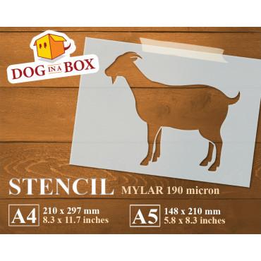 Goat stencil n.1 - Reusable...
