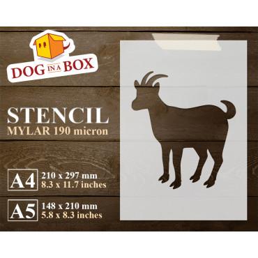 Goat stencil n.2 - Reusable...