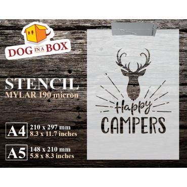 Happy Campers stencil n.1 -...