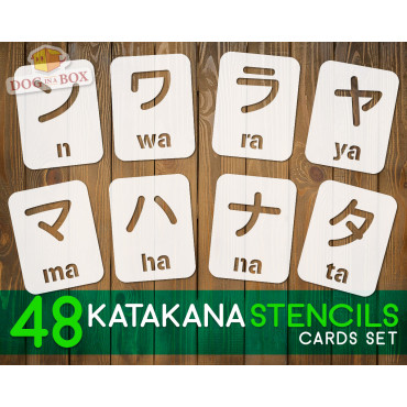 Cartes de pochoir Katakana...