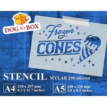 Frozen cones stencil - Ice...