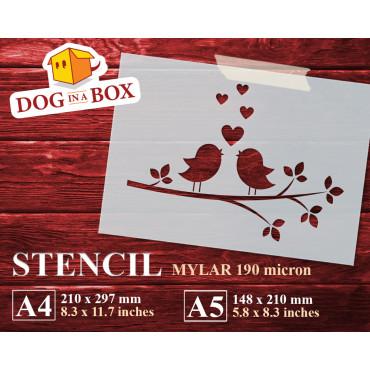 Love birds stencil n.2 -...