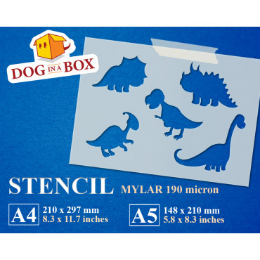 Dinosaur Mix stencil for...