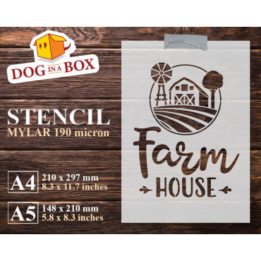 Farm House stencil -...