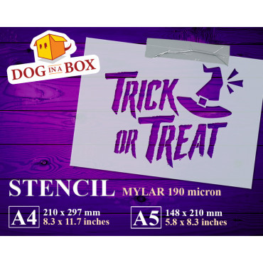 Trick or Treat stencil n.1...