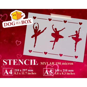 Ballerinas stencil -...