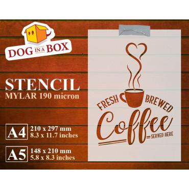Coffe stencil n.1, fresh...
