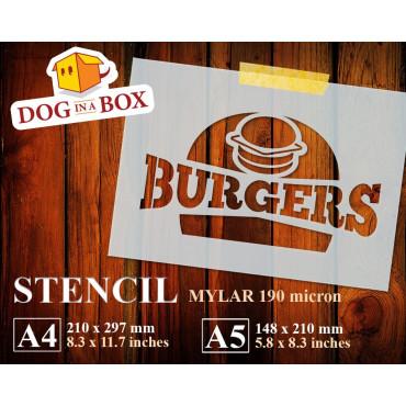 Burgers stencil -...